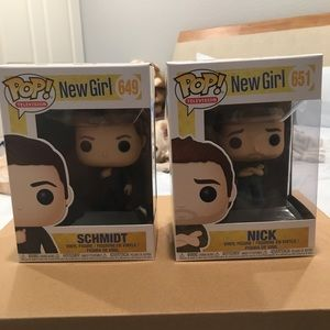 New Girl Funko Pops (Schmidt and Nick)